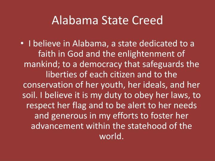 Alabama State Creed