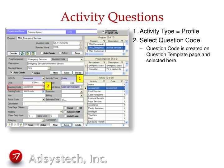 Activity Questions