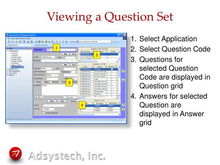 Viewing a Question Set