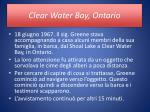 clear water bay ontario