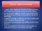 tracce radar anomale