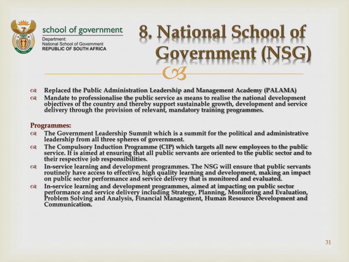 8. National School of