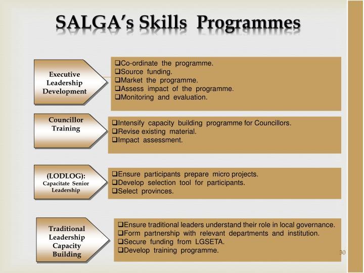 SALGA's Skills
