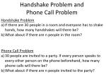 handshake problem and phone call problem