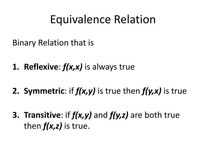 Equivalence Relation
