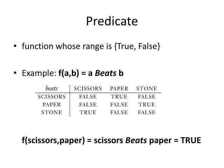 Predicate