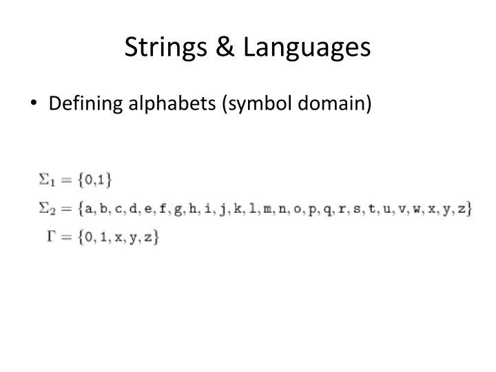 Strings & Languages