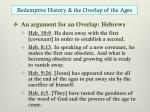 redemptive history the overlap of the ages1