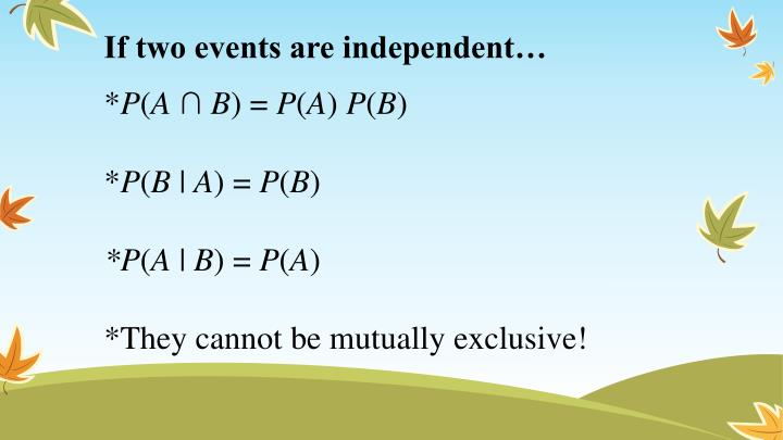 If two events are independent