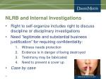 nlrb and internal investigations