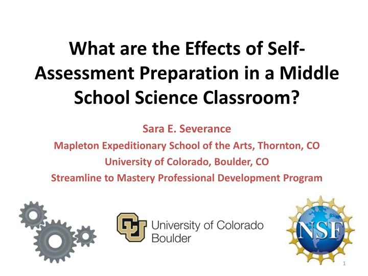 What are the effects of self assessment preparation in a middle school science classroom