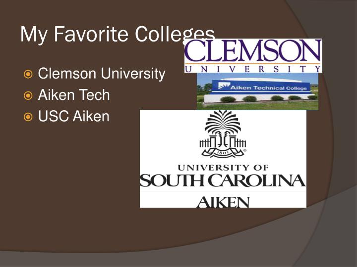My Favorite Colleges
