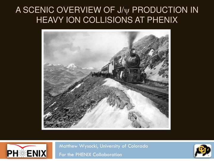 a scenic overview of j y production in heavy ion collisions at phenix n.