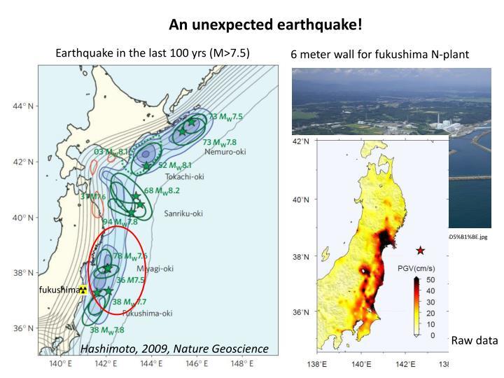 An unexpected earthquake!