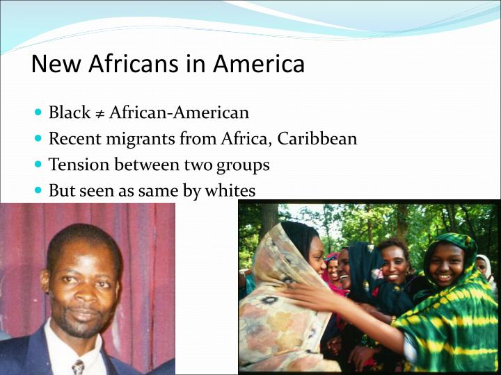 New Africans in America