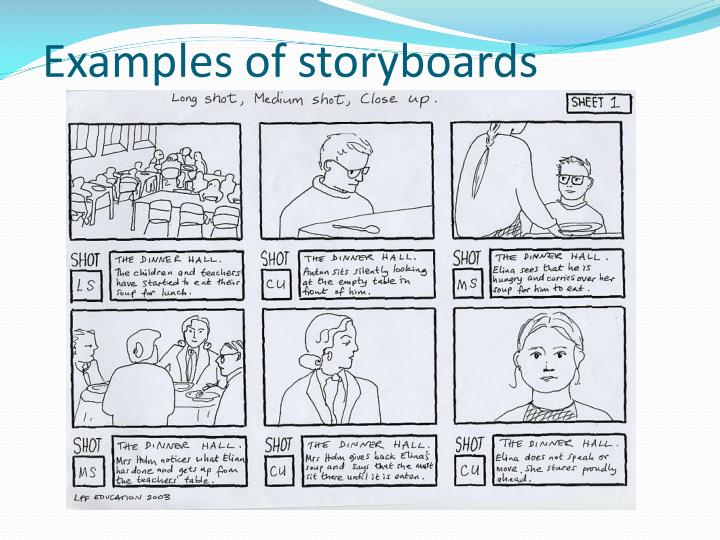 Examples of storyboards