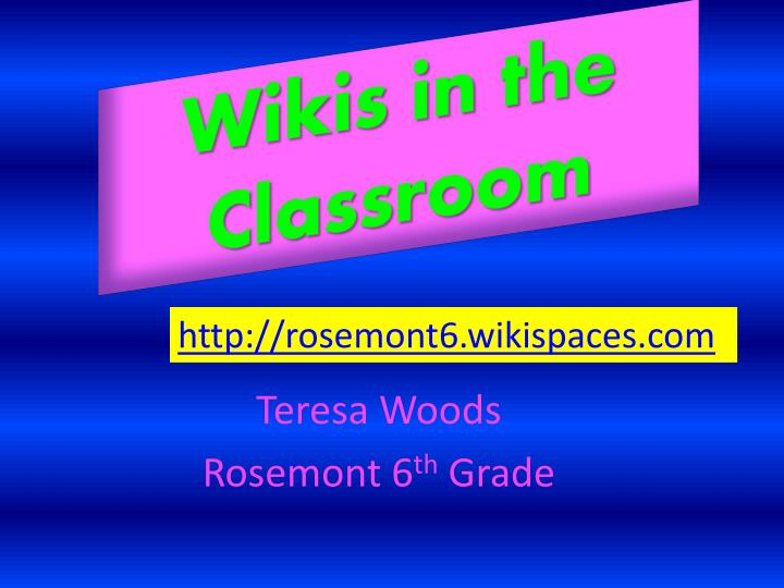 wikis in the classroom n.