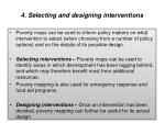 4 selecting and designing interventions