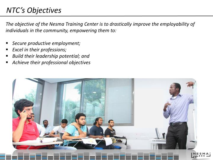 NTC's Objectives