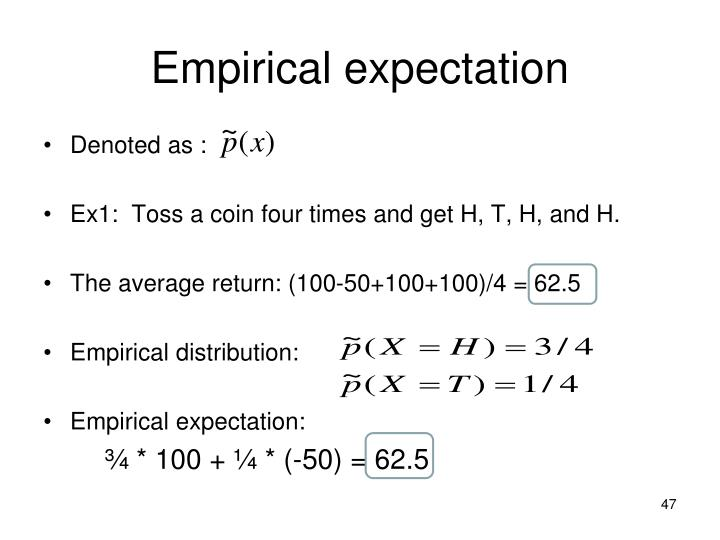 Empirical expectation