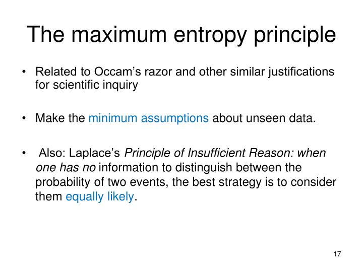 The maximum entropy principle