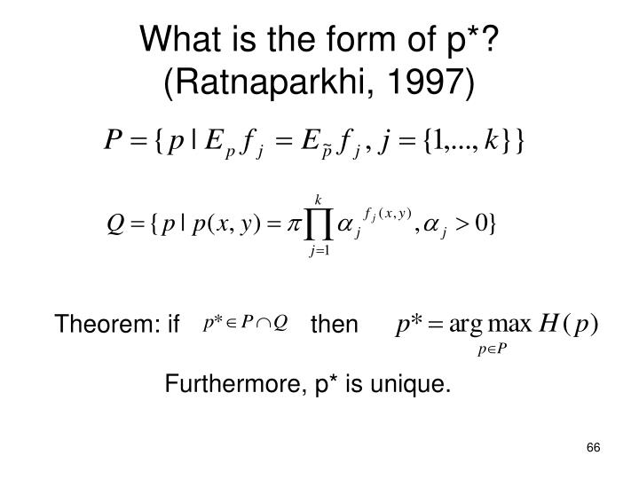 What is the form of p*?
