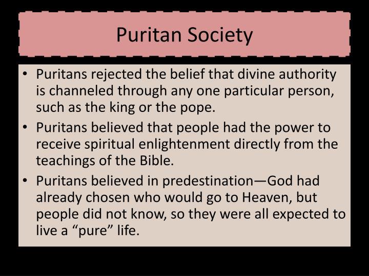 Puritan Society