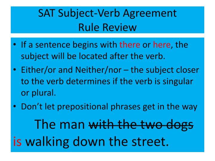 SAT Subject-Verb Agreement