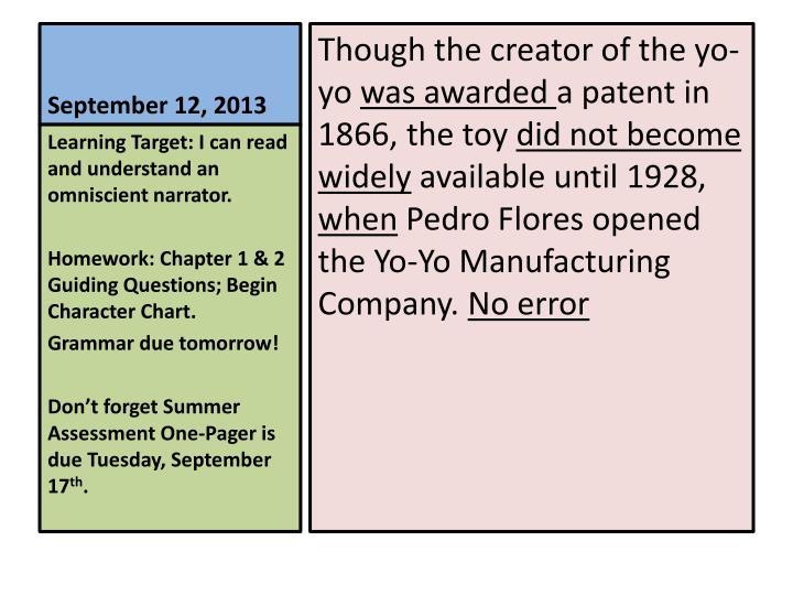 September 12, 2013