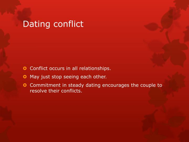 Dating conflict