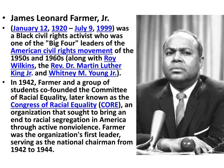 James Leonard Farmer, Jr.