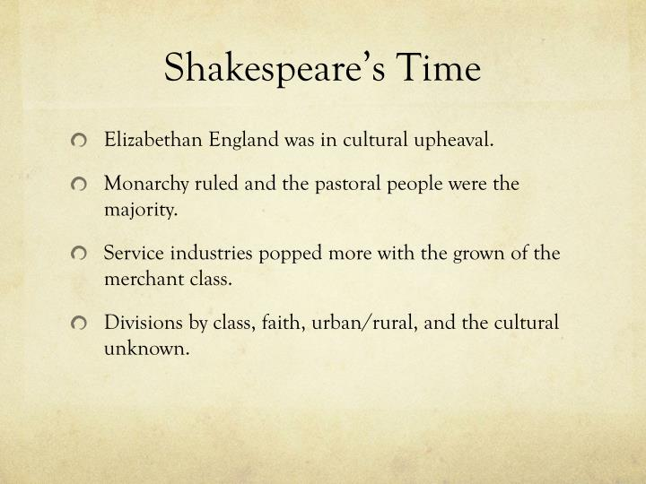Shakespeare s time