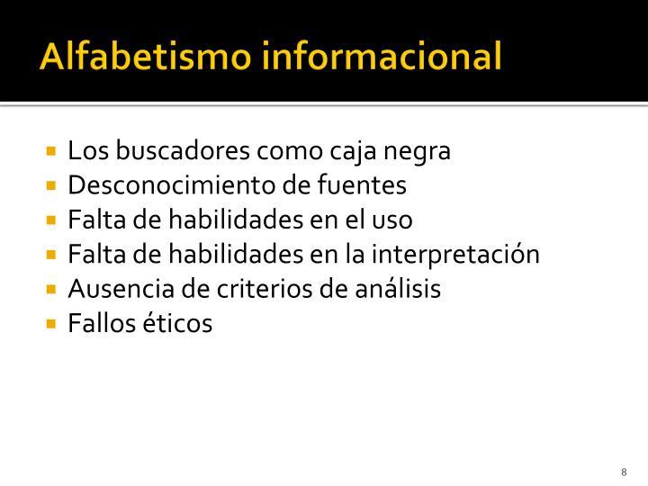 Alfabetismo informacional
