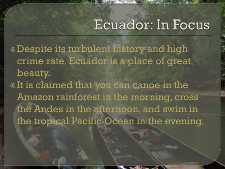Ecuador: In Focus