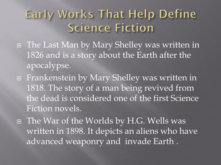 Early Works That Help Define Science Fiction