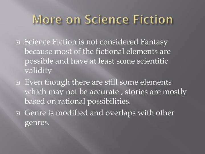More on Science Fiction