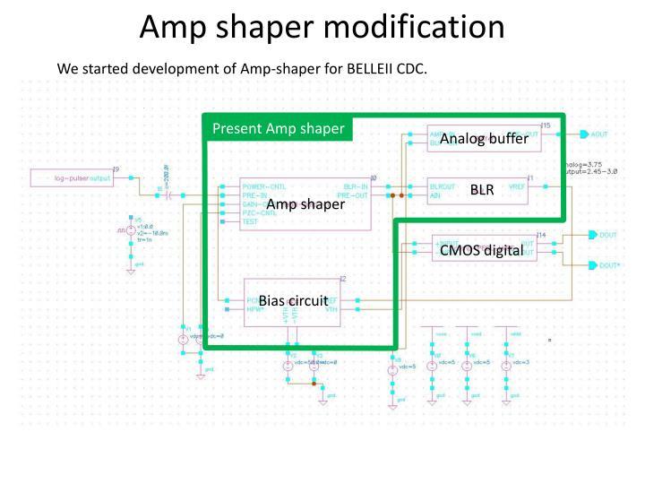 Amp shaper modification