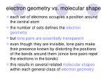electron geometry vs molecular shape
