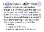 molecular shapes vsepr model