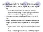 predicting melting points boiling points
