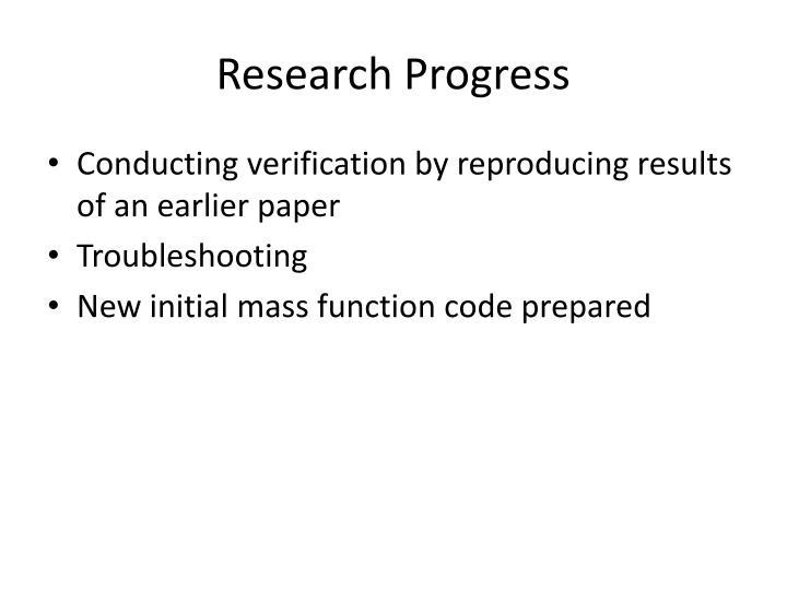 Research Progress