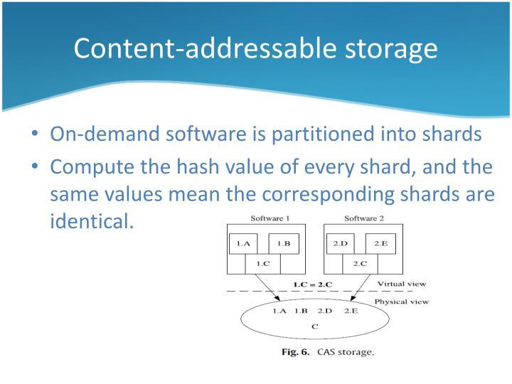 Content-addressable storage