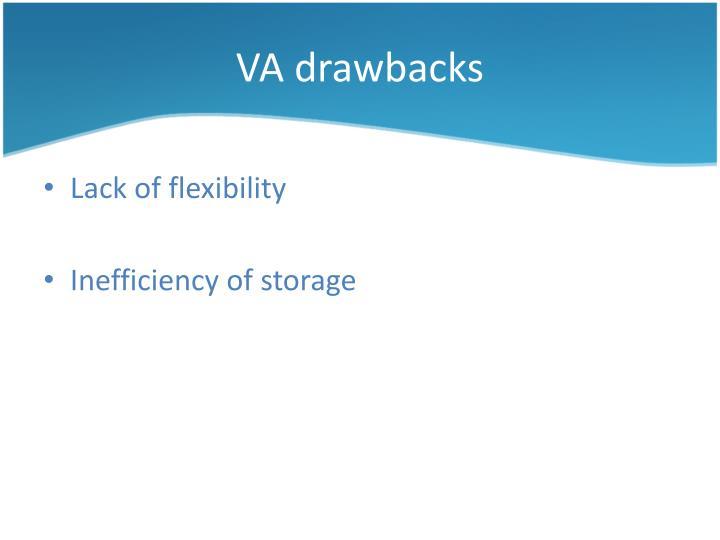 VA drawbacks