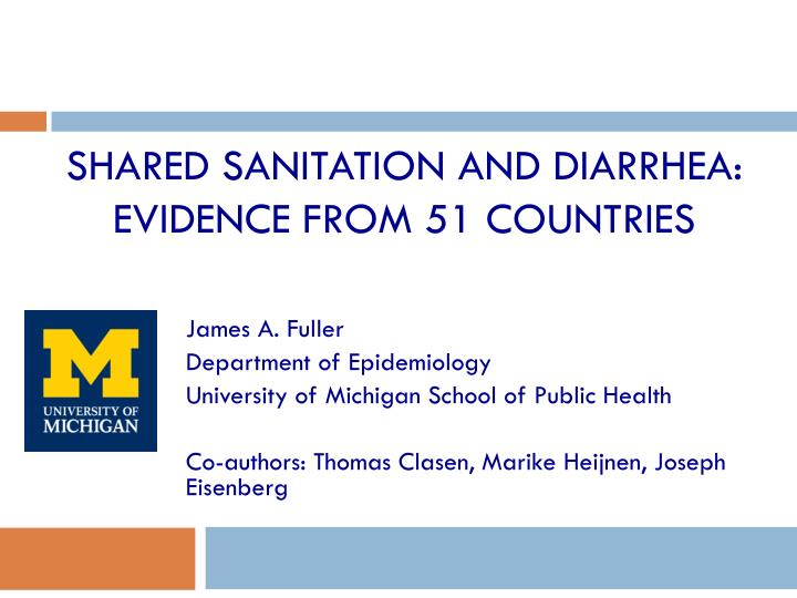 shared sanitation and diarrhea evidence from 51 countries n.