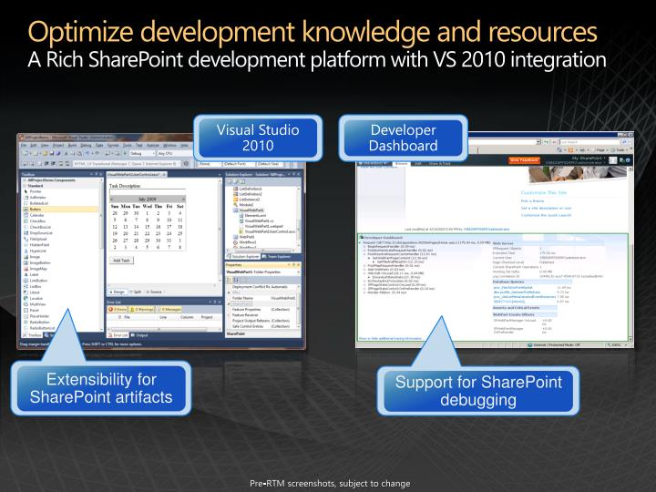Optimize development knowledge