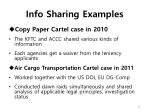 info sharing examples