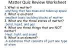 matter quiz review worksheet