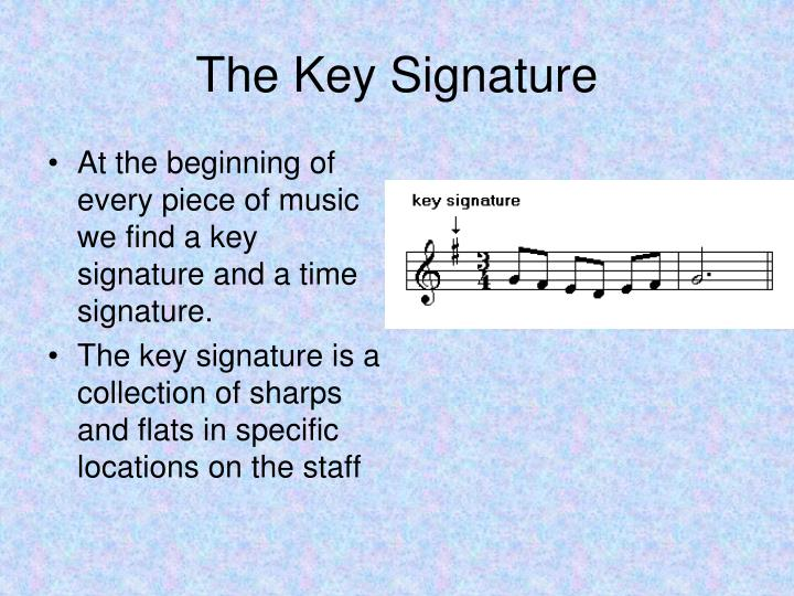 The key signature