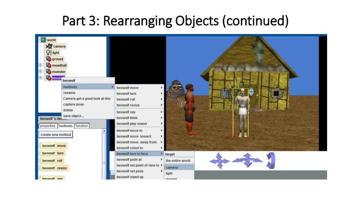 Part 3: Rearranging Objects (continued)