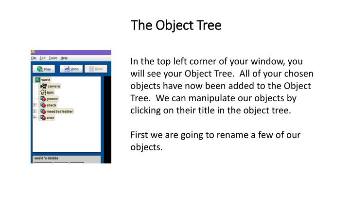 The Object Tree